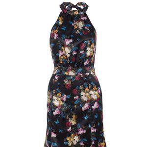 NWT Voodoo Vixen Liana Retro Floral Halter Dress L